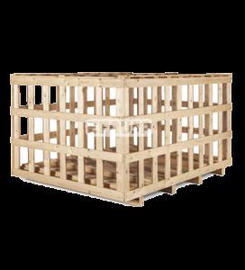 Jaula de madera